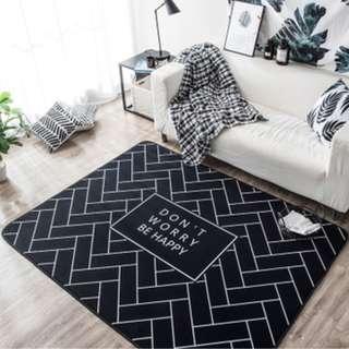 (IN-STOCK) Design Don't worry be happy carpet 150cmx190cm