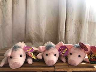 """90's Equity Toys Babe and Friends in The Pig Movie Plush 7"""" Bean Bag With Tags"""