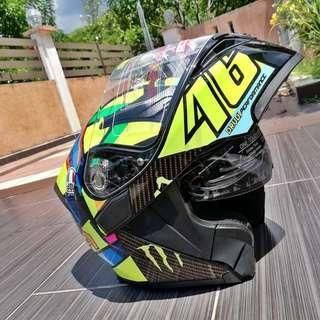 Helmet Rossi soleluna 46 flip up double visor