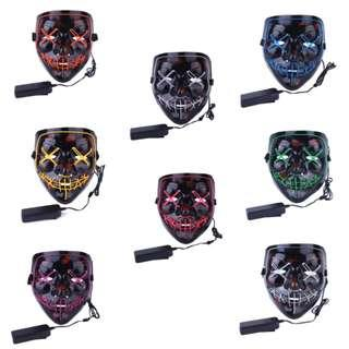 LED New Year Party Mask #Halloween #Cosplay #Party #Purge #Costume #Special #CAROUPAY