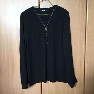 BN black and gold chiffon blouse top