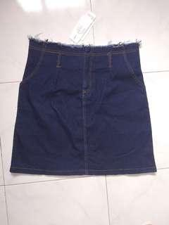 Dark denim skirt new with tags