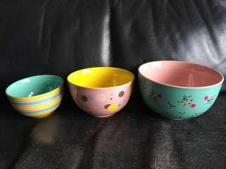 Crabtree & Evelyn bowls (3 pieces)