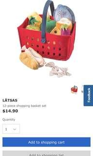 IKEA LATSAS 12piece shopping basket