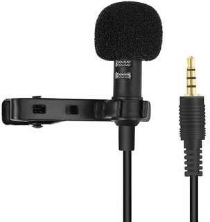 V. Professional lavalier lapel microphone Omnidirectional condenser mini microphone/tie clip microphone a full set of windscreens to remove indoor & outdoor background noise