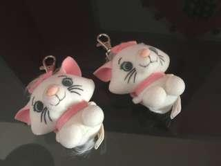 ✌🏻Marie Cat Plush Keychain Sitting ❤ Disney Store Japan The Aristocats