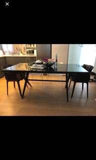 Glass dining table #goodbyeoldfolks