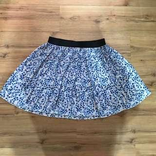 Floral peach and blue skirt