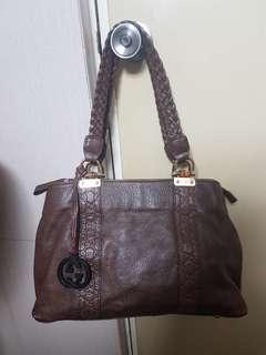 Gucci Chocolate Leather Brown Bag