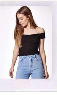 Zara off the shoulder shirt