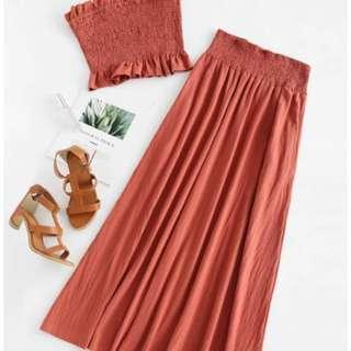 Smocked Bandeau Top & Skirt BNWT