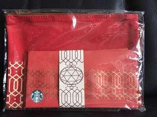 Starbucks red packets with bag