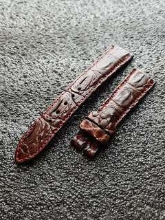 Genuine Crocodile Hornback 20mm watch strap Chocolate Brown for Rolex Omega JLC Grand Seiko etc