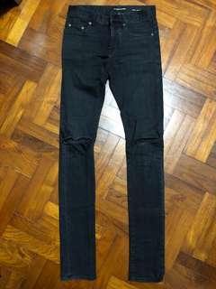 SAINT LAURENT Paris SLP YSL Distressed Jeans