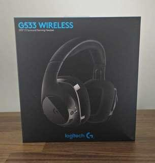 BNIB sealed local Logitech G533 WIRELESS 7.1 SURROUND GAMING HEADSET - NO NEGO