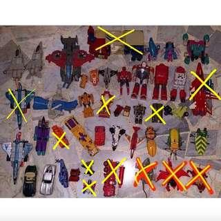G1 and G2 transformers and gobots junk lot