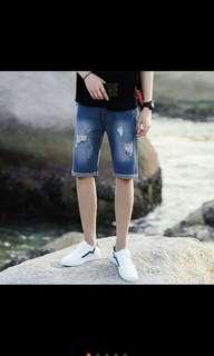 Maong Tattered shorts