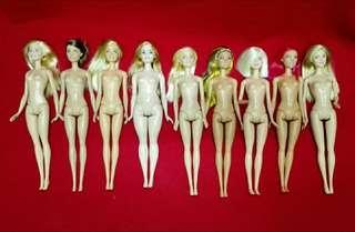 9x Preloved Barbie Doll
