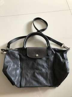 Longchamp leather le Pilage with detachable sling