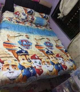 🚚 FREE COURIER CNY PROMO INSTOCK PAW PATROL COMFORTER BEDSHEET SET 100% COTTON 889 THREAD COUNT