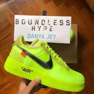 🚚 Customer's Order: Off-White x Nike Air Force 1 Volt/Black