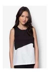 SOMETHING BORROWED Double Laser Top Size S
