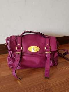 🚚 正品Mulberry經典款Alexa紫色包