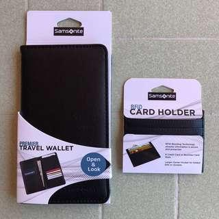SAMSONITE - Travel Wallet and RFID Card Holder Set