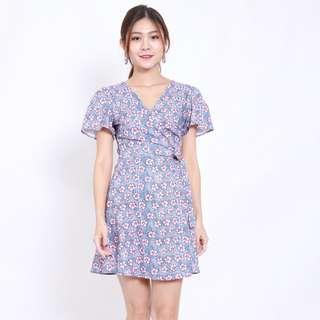 [PO] Vena Floral Kimono Wrap Dress