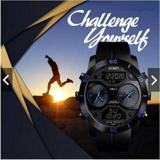 #CNY888 SKMEI Men Multi Time Hybrid Outdoor Sport Watch