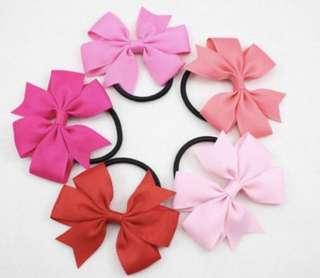 🚚 <$4 for 5>Pinwheel Bow Hairties Ties