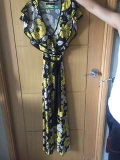 Details floral maxi dress