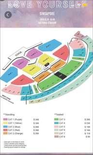 [LF/WTB] BTS love yourself tour concert tickets
