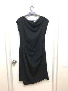 XL Anne Klein Black Cowl Neckline Dress