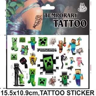 Minecraft party supplies - Party tattoos / party gifts / goodie bag gifts