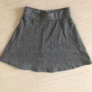 hnm grey skirt