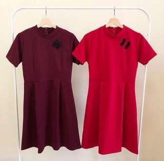 Zara look alike red dress