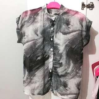 ABSTRACK BLOUSE(NEW)