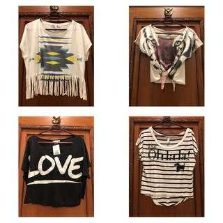 Assorted Loose Crop Tops
