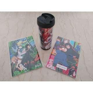 Anime Sword Art Online Water Bottle & Notebooks (3 Items)