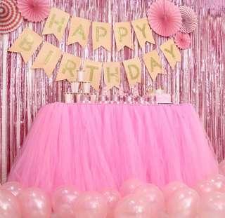 Pink Tutu table clothe