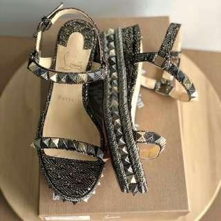 Ready New Arrival !CL Pyraclou  Black size 37,38,39 Complete box