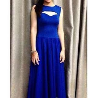 Custom made blue gown