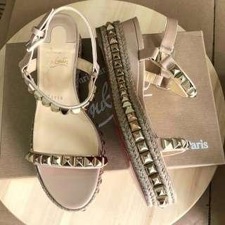 Ready New Arrival ! CL Pyraclou Nude size 37 Complete box