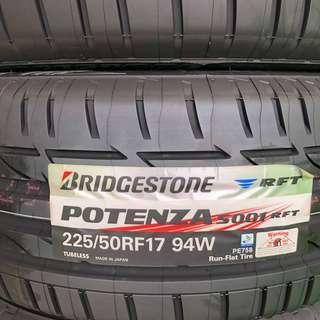 BN Bridgestone Potenza 225/50/17 RFT