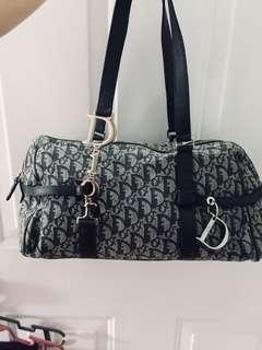 Authentic Dior canvas shoulder bag