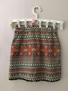 Tan Printed Skirt