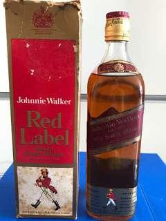 1960s Johnny Walker Red Label 75Cl / 750ml - Rare