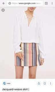 Preloved H&M jacquard weave skirt