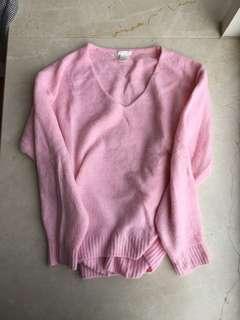 H&M Pink Sweater 粉紅色冷衫